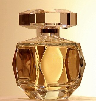 100ml gold color cosmetic glass perfume bottle