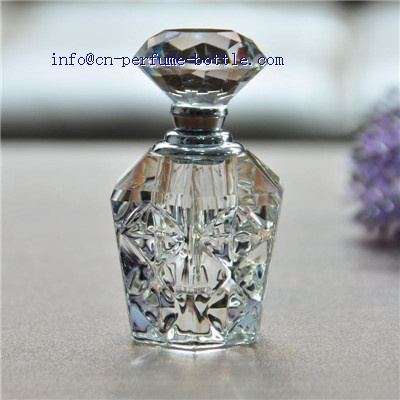 diamond shape crystal bottle