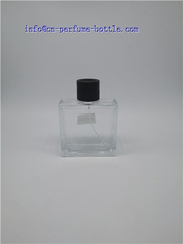 square glass bottle with round cap