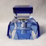 5ml crystal perfume bottle with blue color crystal
