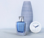 75ml square perfume bottle with sparyer pump