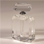 square crystal perfume bottle