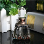 15ml crystal bottle with metal bottom
