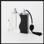 black crystal bottle with pump